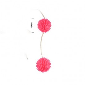 Вибрирующие вагинальные шарики розового цвета